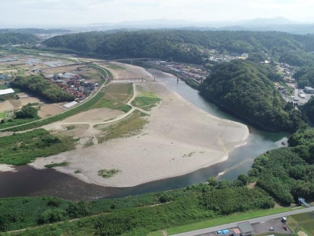 高津川河成地区河床整備第2工事